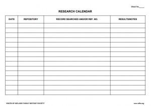 Research Calendar
