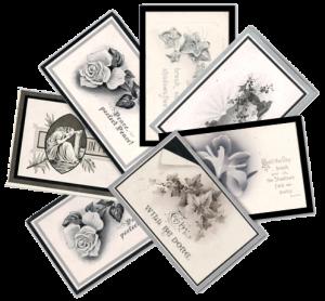 Mourning cards image