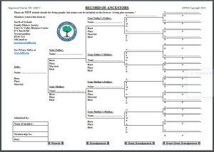 Record of Ancestors Chart image